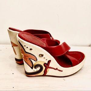 Vintage Prada Wedge Sandals